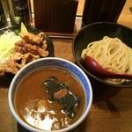 三田製麺所 - 唐揚げ(3個)セット936円(税込1010円)麵並ひや