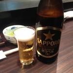 天菊 - ビールはアサヒとサッポロから選べます。