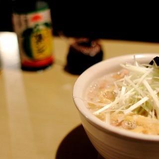屋台拉麺 身空 - 料理写真:醤油拉麺(塩魚汁+煮干)