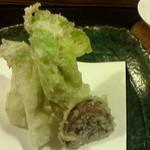 47515395 - 福岡産蕾菜の天麩羅