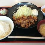 定食 稲 - 稲 @西葛西 豚生姜焼き定食 750円(税込)