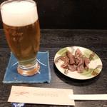 若どり 鈴 - 201602 ビール(600円)とお通し