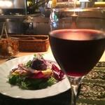 アルペンジロー - グラス赤ワイン