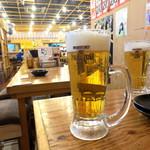 満マル - 生中(プレミアムモルツ)¥290