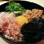 三合菴 - 納豆蕎麦(冷)