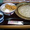 十割そば会  - 料理写真:賄いセット(鳥天・半熟丼) 753円