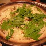 和心庭 一蔵銀座 - 帆立と水菜の土鍋ご飯