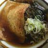 きそば - 料理写真:山菜蕎麦☆きつね入り★ スープのヌルさ目を瞑れば 具沢山でイケる