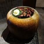 伊右衛門サロン - (2015/12月)手水鉢のディスプレイがおしゃれ
