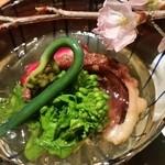 47630758 - 先付タコと旬野菜