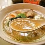 名代ラーメン亭 - チャーシューメン(スープ)