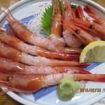 おけしょう鮮魚の海中苑 - 料理写真:甘エビお造り(2016.02.03)