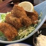 47642672 - カキフライ定食は大粒の牡蠣が5つも!