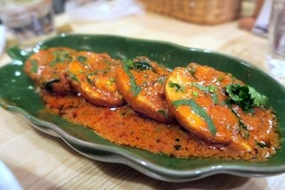 マナカマナ - ゆで卵のスパイス炒め¥450