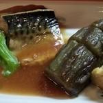 わんや - 鯖と茄子の煮付け定食 2016.2