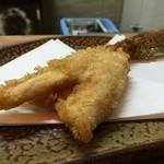 天ぷら たけうち - 大きな、玄海の子持ちのハゼ うまい