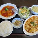 餃子工房 你好 - エビチリマーボ豆腐定食680円。(税込)