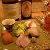 菜庭酒菜 櫓仁 - 料理写真:前菜、白ボトル、瓶ビール16.1