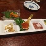 樂旬堂 坐唯杏 - 珍味盛り合わせ 日本酒が進みます
