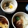 八松庵 - 料理写真:三点そば(税込950円) えび天、なめこ、とろろ