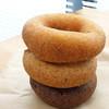 はらドーナッツ - 料理写真:上からプレーン、くるみ、カカオ!