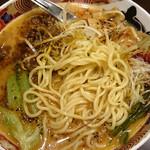 七志 とんこつ編 - 麺アップ