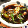 夢打庵 - 料理写真:鴨汁はぬるい。これはNGf^_^;)