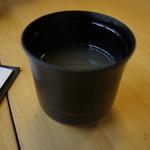 八沢川 - うなぎスープ=入店時のサービス