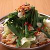 まるうま - 料理写真:にらたっぷりのもつ鍋も人気