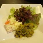 カリー房 花 - セットのサラダ