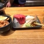 市場食堂 - ちょい呑みセット(800円)