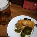 47860444 - ハラペーニョポテサラと生ビール