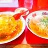 万里 - 料理写真:天津飯&半ラーメンセット 770円(@_@)
