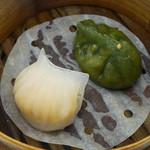 47943480 - 海老の蒸し餃子、翡翠蒸し餃子