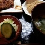 わんや - 漬物、味噌汁アップ 2016.2