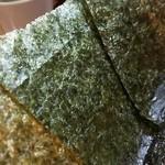 ゆき坊 - 海苔増しは5枚100円。