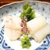 和しょく えびはら - 料理写真:明石の真鯛 三浦のヤリイカ 芹のお浸し
