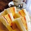 アマゾン - 料理写真:玉子サンド+コーヒーセット(ハーフサイズ)