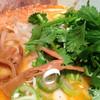黒椿屋 - 料理写真:海老味噌麺+パクチー