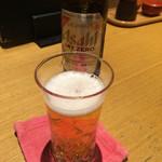 釜あげうどん はつとみ - ノンアルコールビール380円