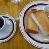 あぷれん堂 - 料理写真:モーニングセット、ゆで卵、トースト、ピーナッツバター
