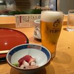 鮨政 - 「ランチビール」380円