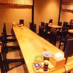 福禄寿蕎麦 - 4名様のテーブルから10名一緒に座れるテーブル席もあります!!少人数宴会に便利☆