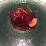 48095538 - オードブル:フォアグラと鰻と苺!