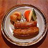 サルシータ - 料理写真:自家製チョリソのロースト、メキシコ風ピクルス添え