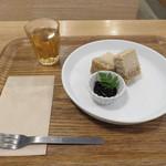 ガーデンカフェ - ヴィーガン・チーズケーキ(ハーフ)1
