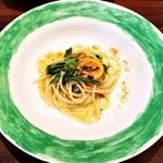 48140498 - スパゲッティ サルディーニャ産カラスミ 葉玉ネギ レモンのペペロンチーノ (取分け分)
