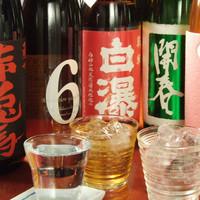 厳選した焼酎・地酒