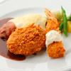 ダイニングキノシタ - 料理写真:ハンバーグチーズのせ、エビフライ、コロッケの限定セット