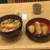 七福 - 料理写真:天ぷらうどん、いなりセット